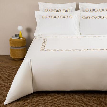 Links Ricamo Bettbezug Set