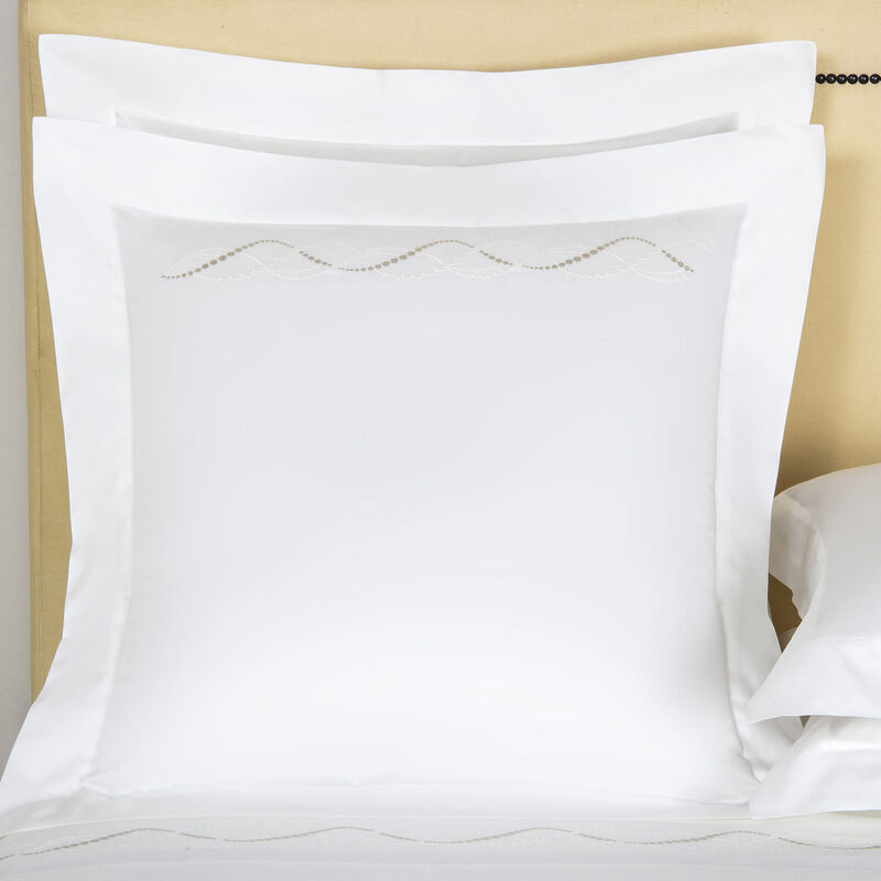Luminescent Pearls Embroidered Euro Sham