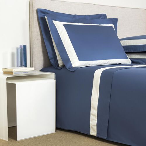 New Horizon Sheet Set Brit Blue Ivory