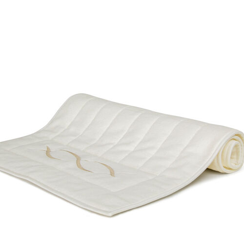 Lotus Flower Embroidered Bath Mat