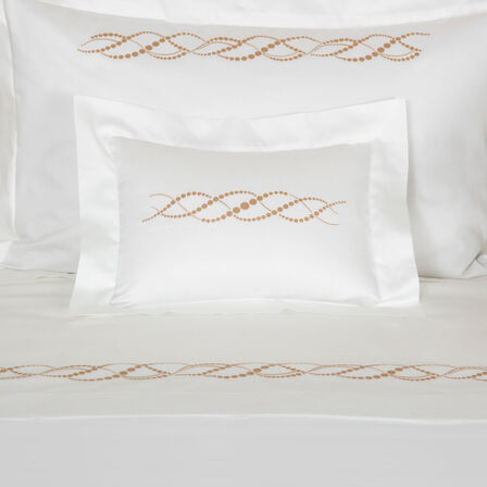 Pearls Embroidered Boudoir Sham