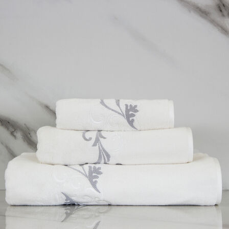 Tracery Embroidered Guest Towel