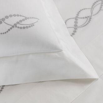 Pearls Ricamo Taie D'oreiller Carrée