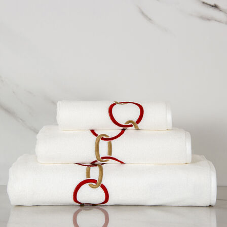 Links Embroidered Bath Towel