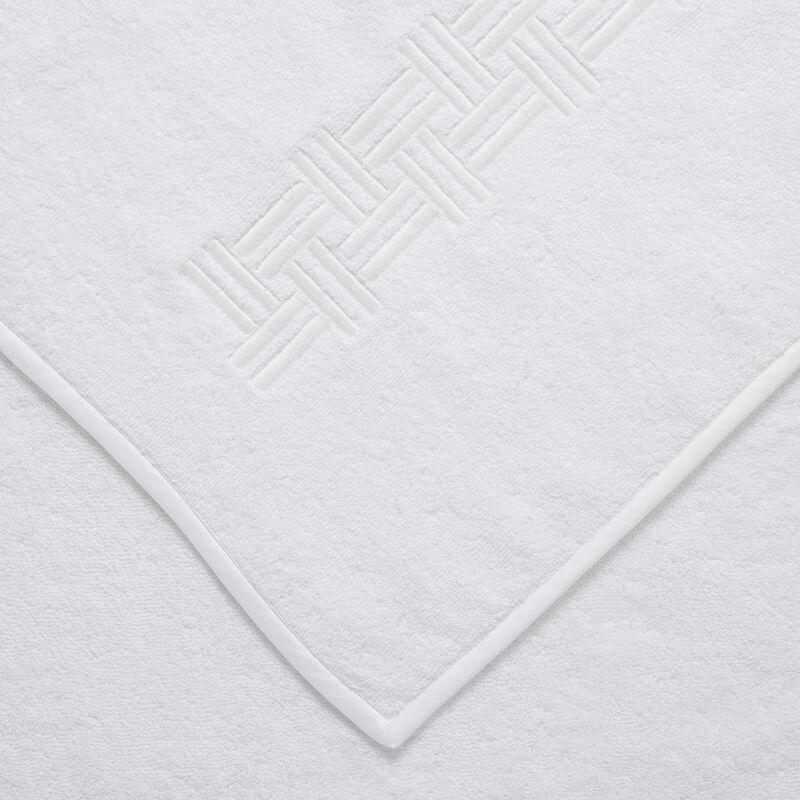 Basket Weave Embroidered Bath Sheet