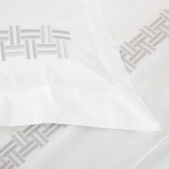 Basket Weave Embroidery Duvet Cover Set