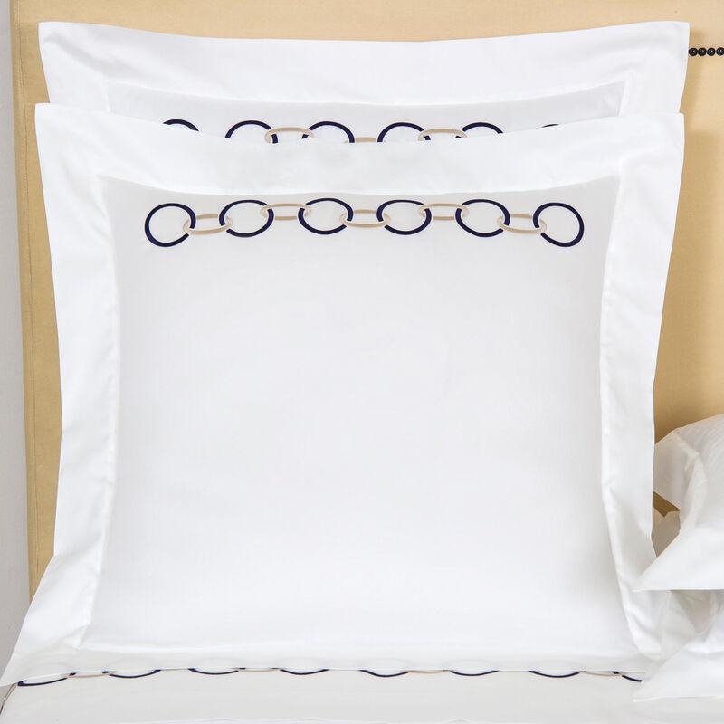 Links Embroidered Federa Quadrata