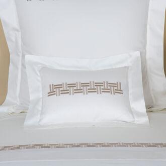 Basket Weave Embroidered Boudoir Sham