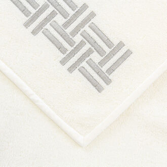 Basket Weave Embroidery Guest Towel