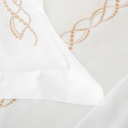 Pearls Embroidered Boudoir Sham