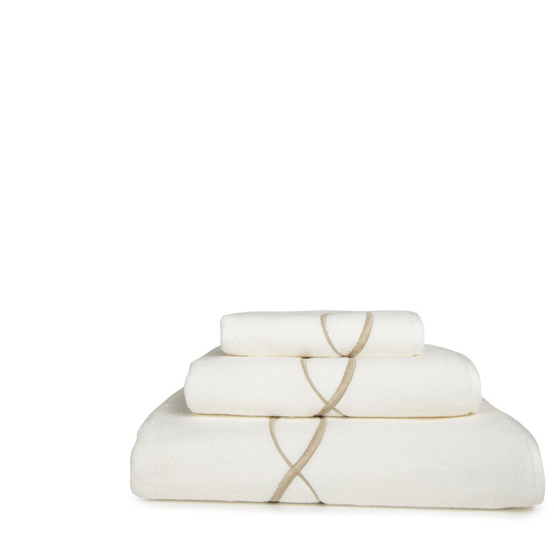 Lotus Flower Embroidered Bath Towel