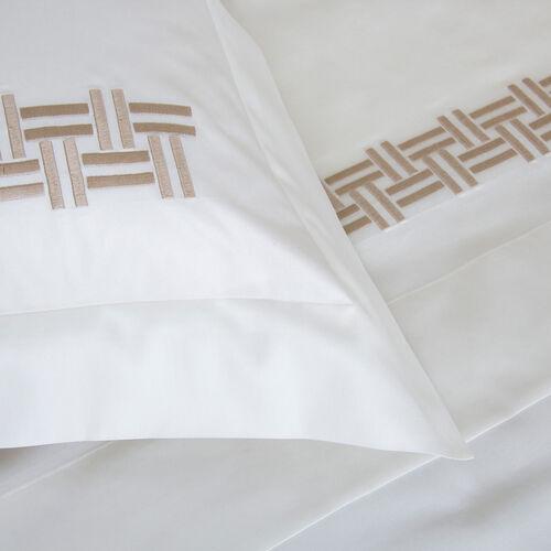 Basket Weave Embroidered Duvet Cover Set
