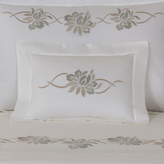 Lotus Flower Embroidered Boudoir