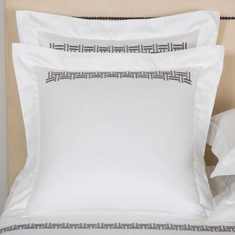 Basket Weave Embroidery Euro Sham