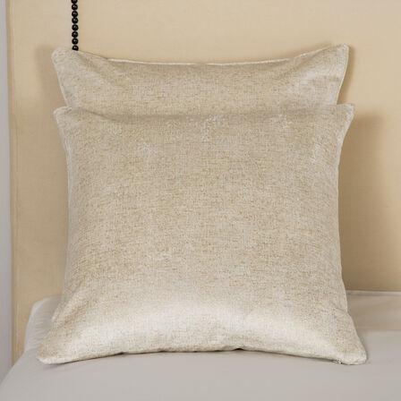 Luxury Shimmer Velvet Decorative Pillow - Milk/Gold - One Size