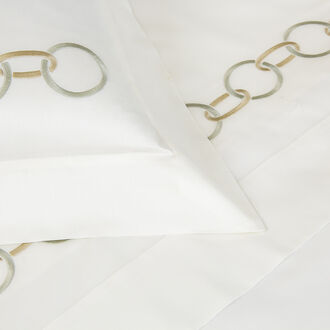 Links Embroidered Duvet Cover Set