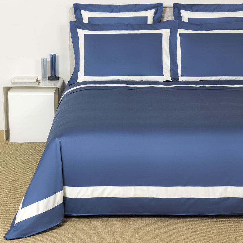 New Horizon Duvet Cover Set Brit Blue Avorio