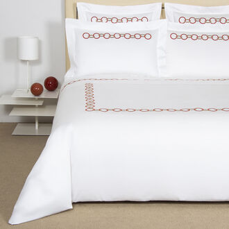 Links Embroidered Duvet Cover Set