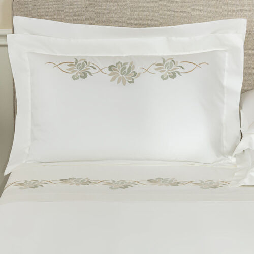 Lotus Flower Embroidered Sham
