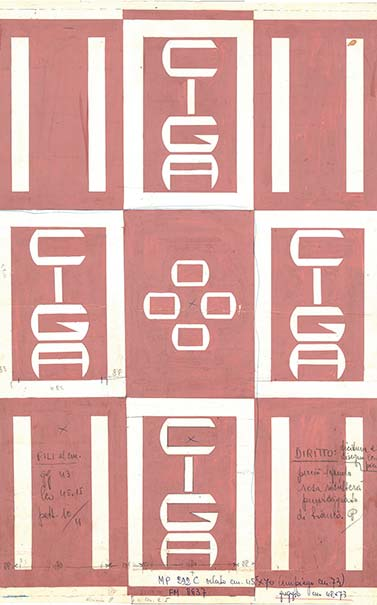 CIGA Hotels Design Sketch 1967