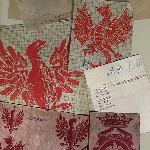 Borghese family emblem sketches 1900