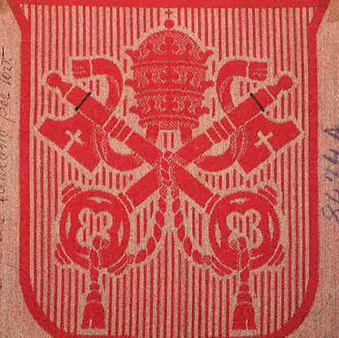 The Vatican emblem proof of weave 1931