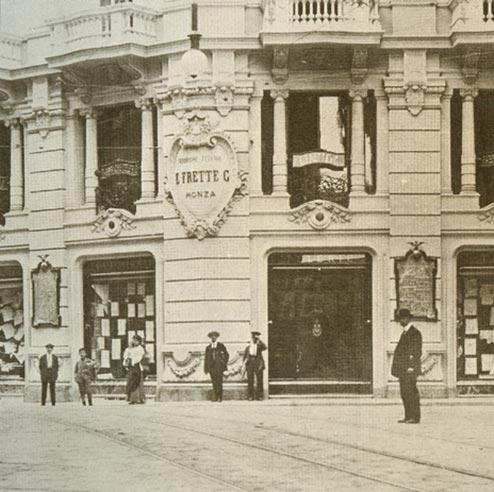 Frette Via Manzoni Milano store 1878
