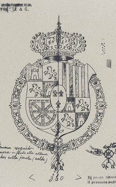 Spanish Embassy Emblem Sketch 1926